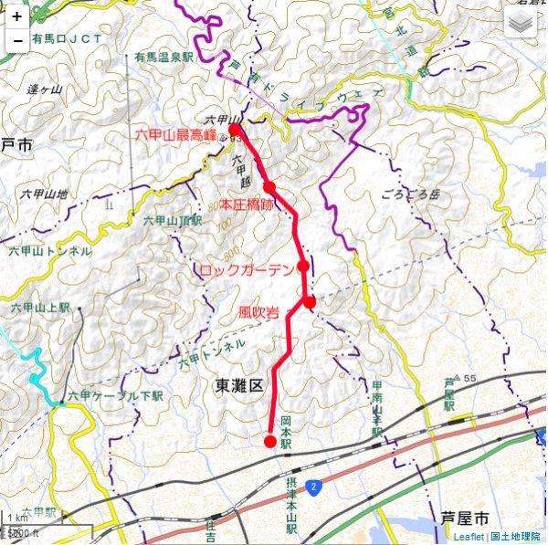 六甲山 登山ガイド